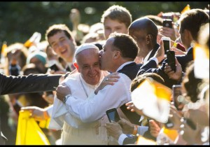 Pope Francis is greeted by thousands in Washington, DC. Photo by Molly Riley