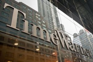 Mandatory Credit: Photo by Bebeto Matthews/AP/REX/Shutterstock (6112549f) Time Warner The Time Warner nameplate stretches across the entrance of the Time Warner Center at Columbus Circle in New York Time Warner, New York, USA
